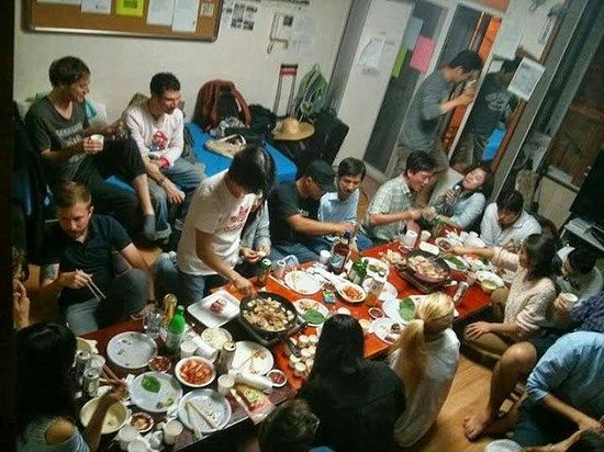 BBQ party at chingu guesthouse.