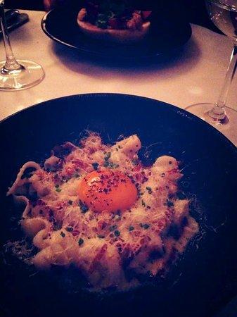 Brasserie Thoumieux : la carbonara en trompe l'oeil avec du calamar!