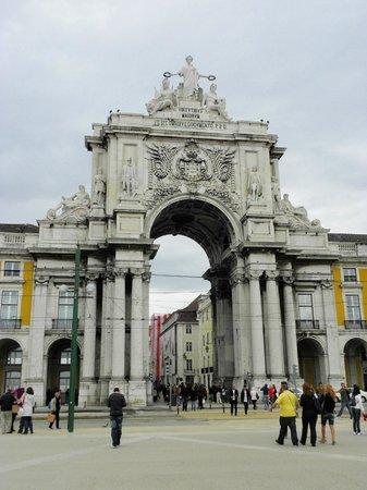 Praça do Comércio (Terreiro do Paço) : arco neogotico