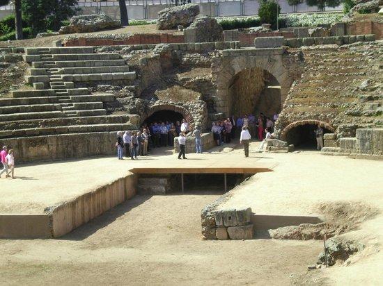 Roman Theater (Teatro Romano): The floor of the theatre where gladiators fought