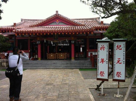 Naminoue-gu Shrine: 神宮正殿門口