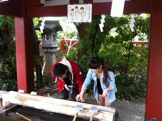 Naminoue-gu Shrine : 祈福淨水供遊客清洗祈福