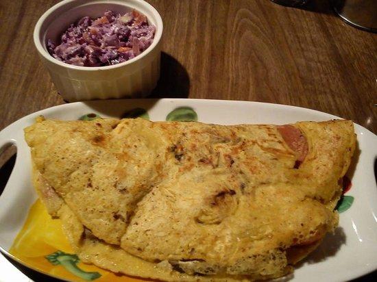 Calf Sanctuary: Breakfast omelette