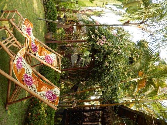 Thongbay Guesthouse: Gartenanlage