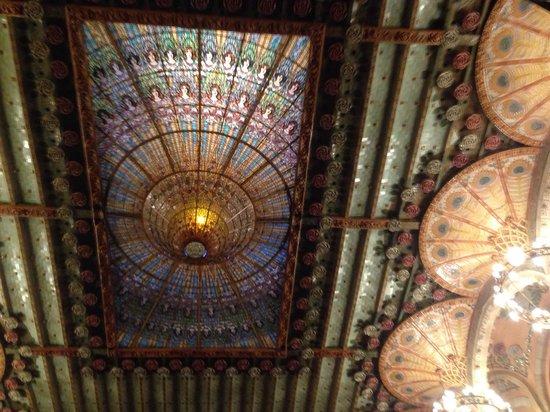 Palais de la Musique Catalane (Palau de la Musica Catalana) : Soffitto