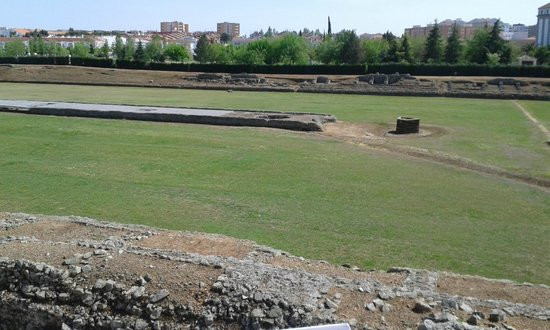 Circo romano: From the viewing deck looking straight ahead