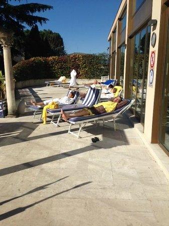 Abano Ritz Terme: Terrazza esterna
