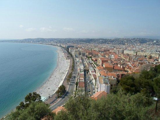 Colline du château : Promenade des Anglais