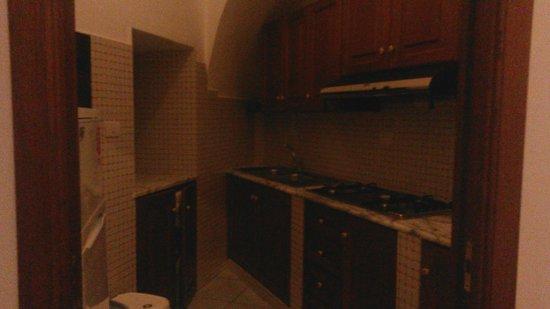 Residence Alcione : Angolo cottura (la foto non rende bene quanto fosse ottimo)
