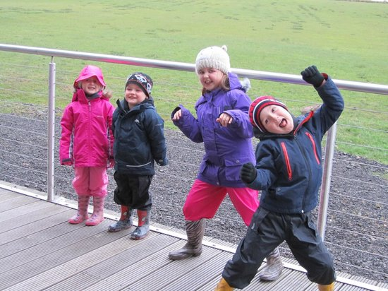 Crosswoodhill Farm Holiday Cottages Near Edinburgh: Amusement on the decking