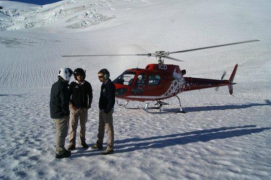 Franz Josef Glacier : On the Glacier, so huge, so quiet..amazing...