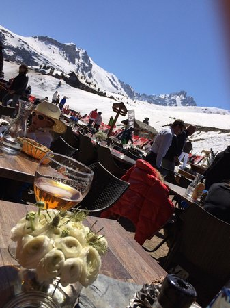 Pilatus : Go for the terrace and order a Leffe ;)