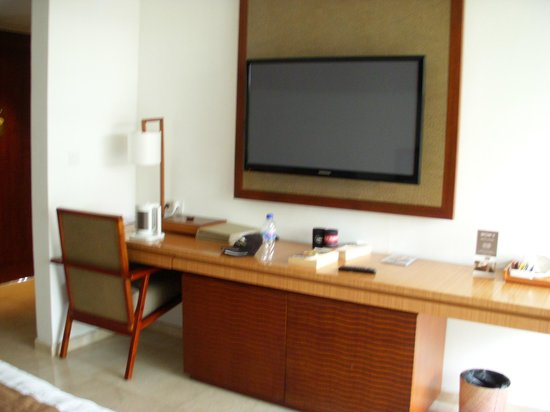 The Magani Hotel and Spa: bench/TV