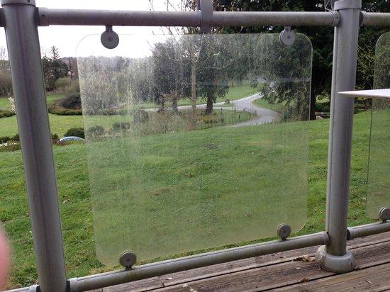 The Cornwall Hotel, Spa & Estate: Dirty balcony