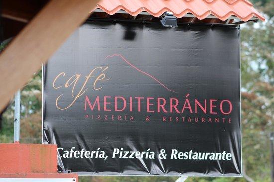 Restaurante Cafe Mediterraneo: Signage