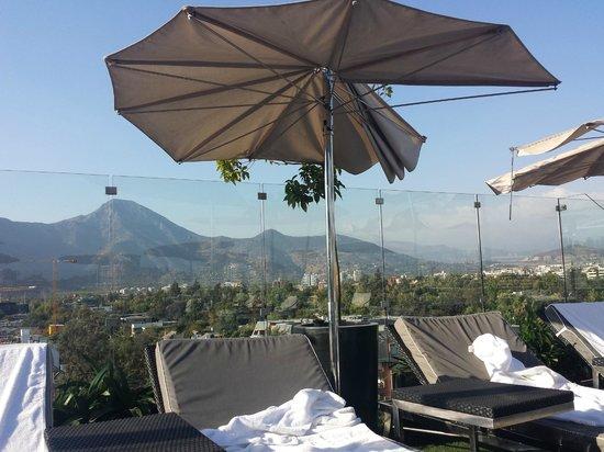 Noi Vitacura: Vista do Bar onde tem a piscina no ultimo andar