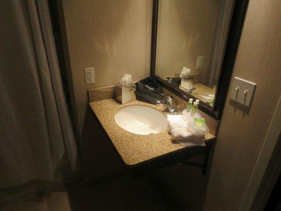 Holiday Inn Express Biddeford: Vanity in the bathroom