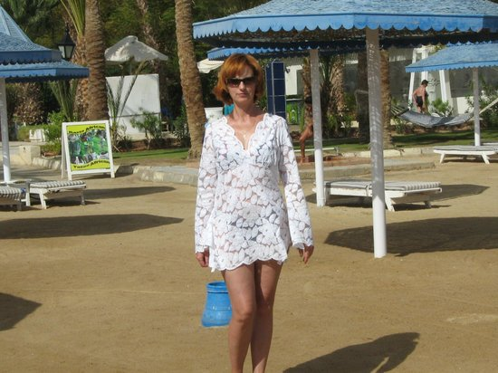 The Grand Resort Hurghada: Пляж и я довольная на нем..