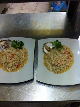 La Brasserie: Risotto ostriche e seppia