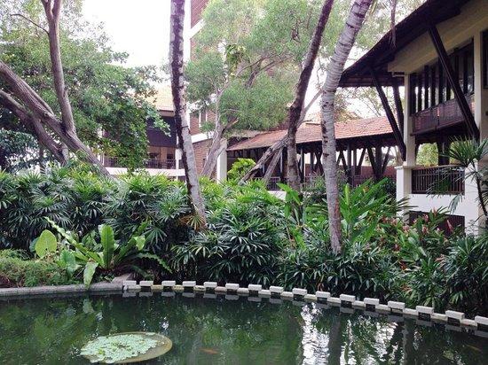 Avillion Port Dickson: Lush surroundings and a fish pool