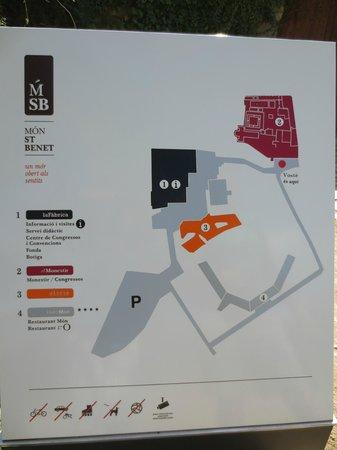 Mon St Benet: Mapa