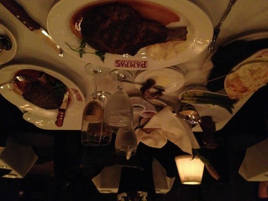 Pampas Steakhouse: The bone in ribeyes our first visit