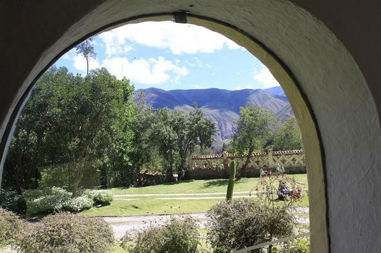 Hotel Hacienda del Valle: View from the approach to the dining room