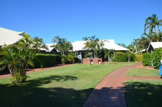 broome beach resort, one of the barbeque areas.