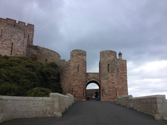 Bamburgh Castle: View of the castle entrance