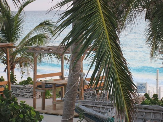 Exuma Palms Hotel: view from our patio of new outside dining