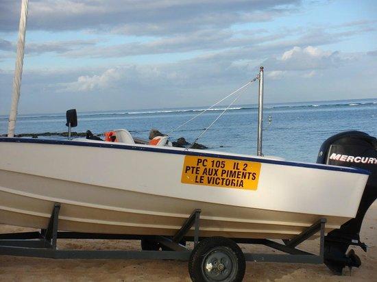 Victoria Beachcomber Resort & Spa: un des bateaux de l hotel