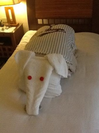 Xperience St. George Homestay: our final towel art by samy
