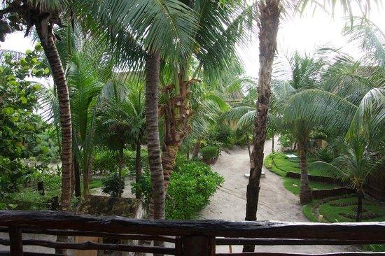 Hip Hotel Tulum : vista desde el balcon de la habitacion