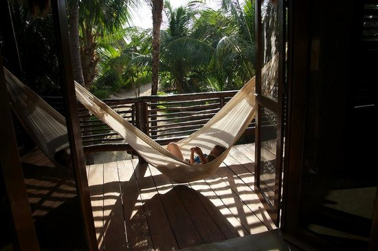 Hip Hotel Tulum : balcon de la habitacion