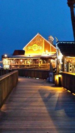 John S P Village Boardwalk Scullys Restaurant At Johns Fl
