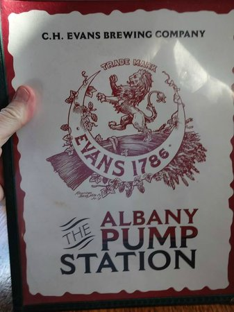 Albany Pump Station CH Evans Brewing Co. : Menu