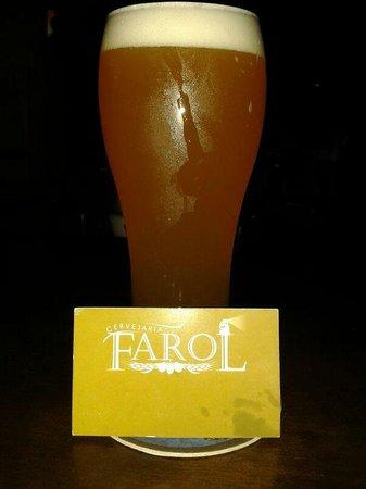 Cervejaria Farol: Delicioso este chopp de Trigo