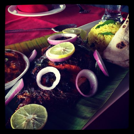 Old Lighthouse Bristow Hotel : Kerala  fish specialty of the house - delicious