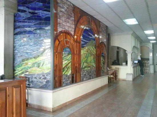 La Finca Del Minero Hotel: Un agradable vitral en recepción