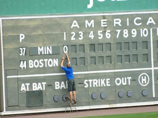 JetBlue Park: Changing the score by hand