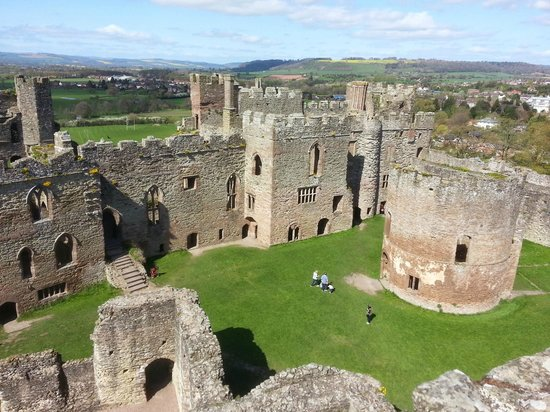 The Inner Bailey from the Keep at Ludlow Castle