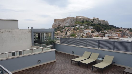 Central Athens Hotel : крыша