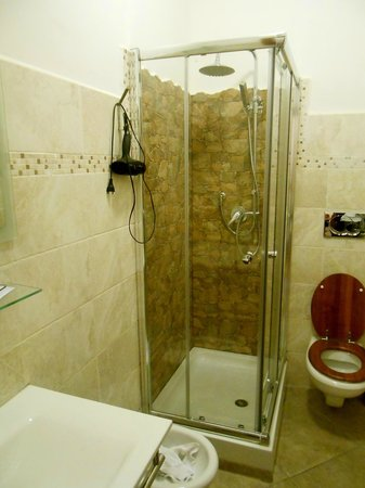 Mrs Julie Guest House: Shower with settings that don't work,