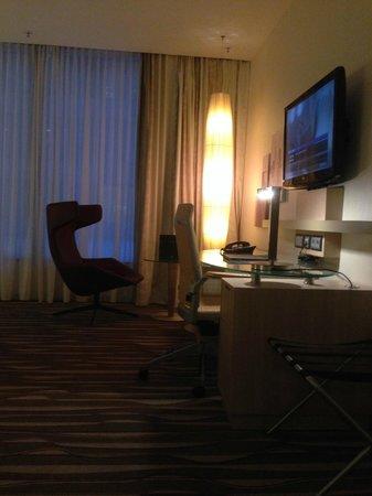 Hilton Frankfurt Airport Hotel: Das Zimmer.