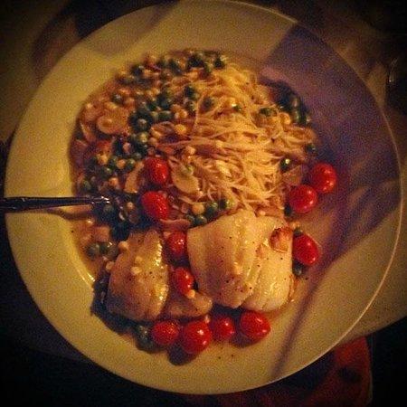 Due Amici Italian Grill: My yummy Flounder special...