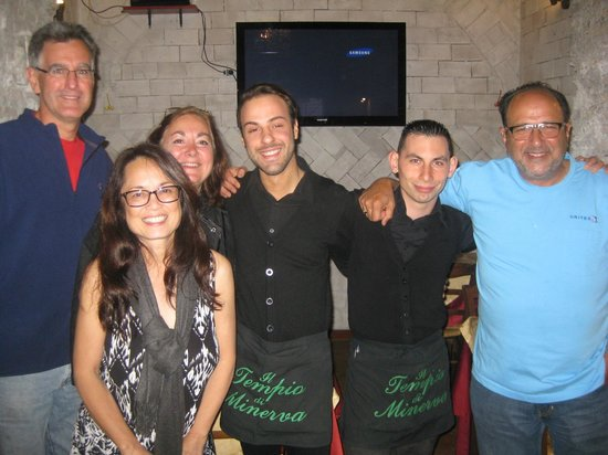 Il Tempio di Minerva: With our Waiters Alessandro and Emanuele