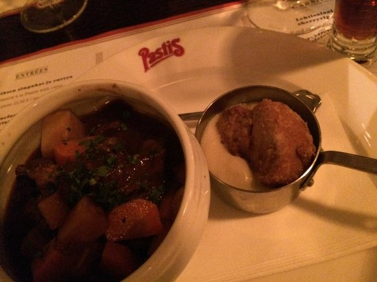 Restaurant Pastis: Veal cheek and sweedbread