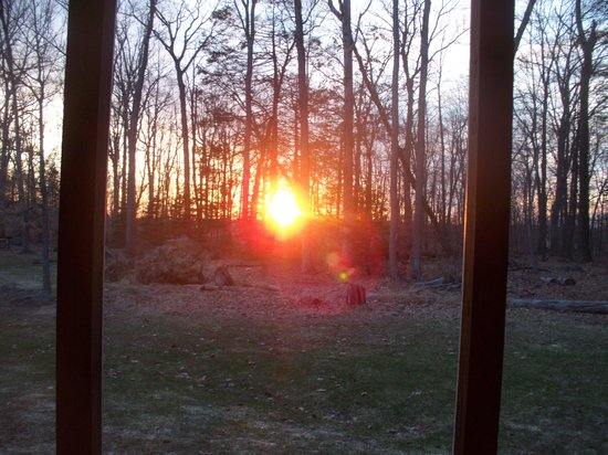 Wyndham Shawnee Village Resort: Sunset from our screened deck