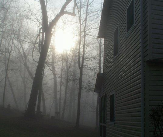Wyndham Shawnee Village Resort : Sunrise on a foggy morning