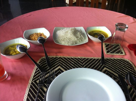 excellent singhalese breakfast at Grand Crown Hotel